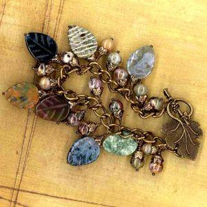 Falling Leaves Charm Bracelet